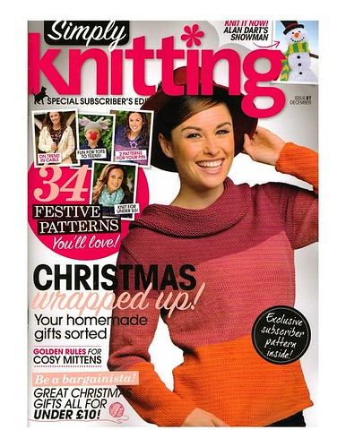 'Simply Knitting' Issue 87 December. | by MRS TWINS/SIBOL 'Sunshine International Blankets