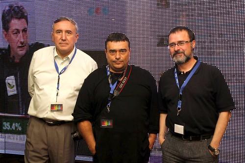 Mikel Agirregabiria, Josu Garro e Iñaki Murua, Promotores de la Tertulia Bilbaina en HautaGaua
