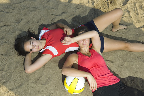 Sisters Relaxing on Beach Volleyball | by KnightWolf Photography