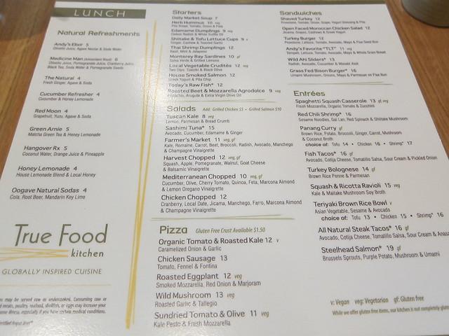 True food kitchen menu flickr photo sharing for Z kitchen jogja menu