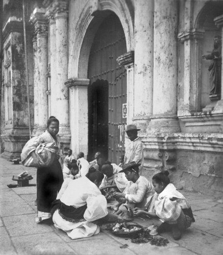 Filipino Flower Sellers by the Binondo Church, Manila, Philippines, early 20th Century | by J. Tewell