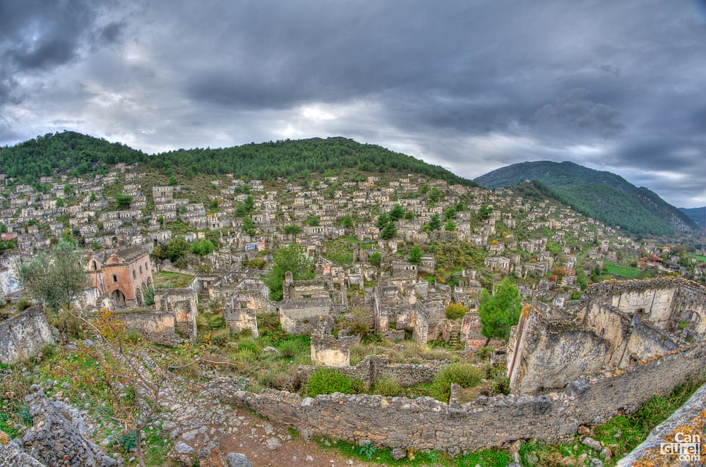 Ghost town of Kayaköy (Levissi), Fethiye, Turkey  Can ...