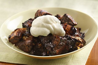 Triple the chocolate bread pudding | by cakespy