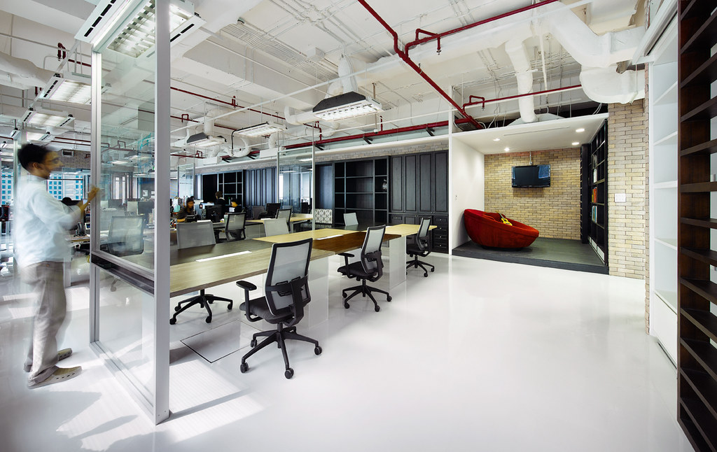 Creative office design by m moser associates m moser for Outer space office design