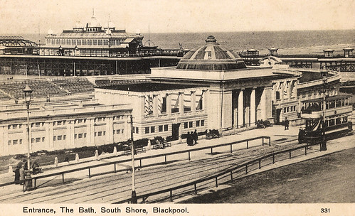 Blackpool south shore the bath a postcard bearing an for Bathroom design blackpool