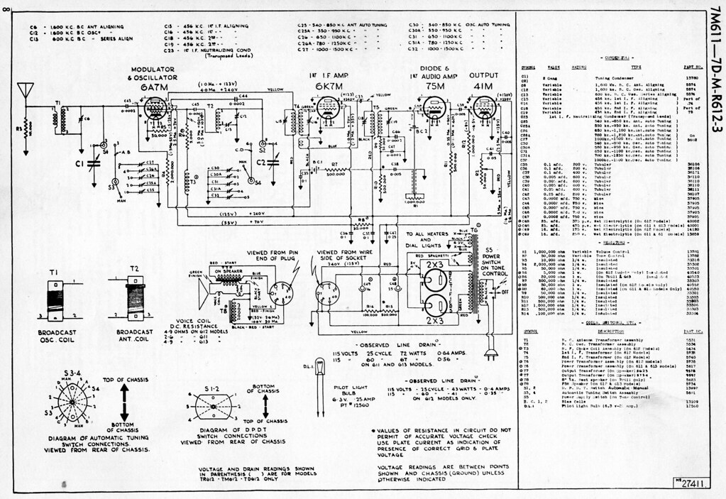 deforest crosley 7d613 schematic