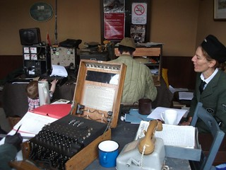ENIGMA machine and radio room | by nymr.co.uk