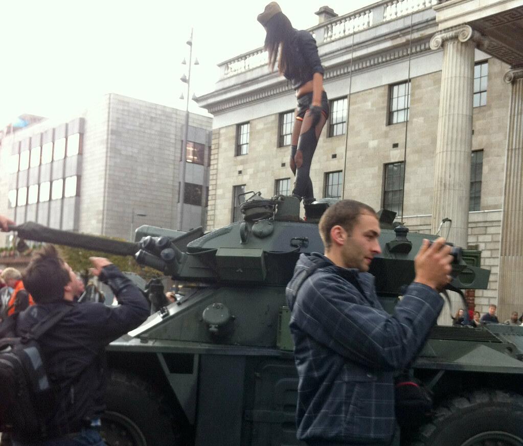 Tank Girl Actually A Sexy Girl On An Armoured Car  Flickr-7994