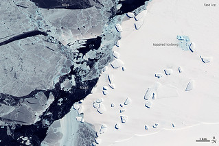 Sea Ice and Icebergs off East Antarctica | by NASA Earth Observatory