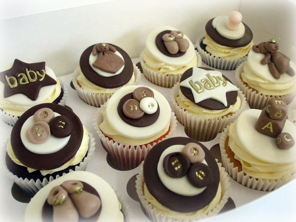 Unisex Baby Shower Cupcakes : Baby shower cupcakes - unisex These were made for a baby ...