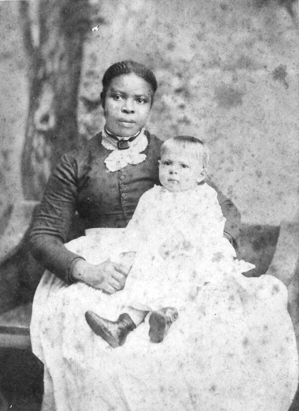 former slave aunt jane with one of the j d walker chil