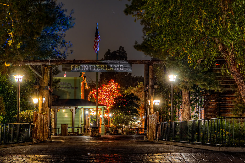 Frontierland After Dark | Frontierland has to be one of my ...