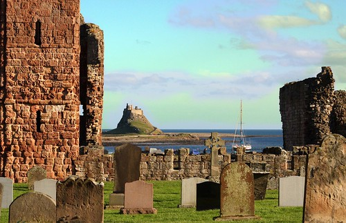 holy island castle & priory | by dudley72