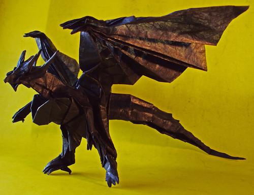 Divine Dragon Bahamut by Kamiya Satoshi, folded by me | Flickr  Divine Dragon B...