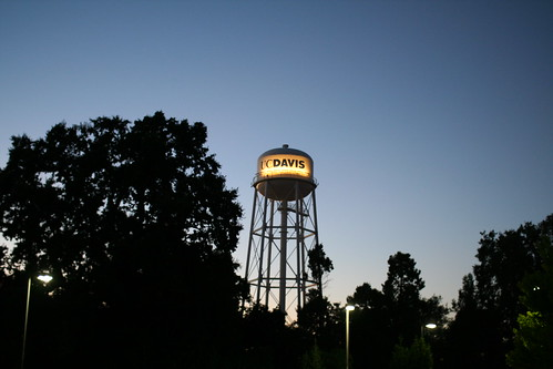 Water tower at dusk - University of California Davis (UC Davis) campus no. 6023 | by Eric E Johnson