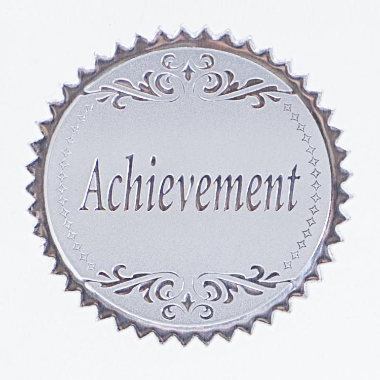 Round Silver Achievement Foil Certificate Seals 100pk Flickr