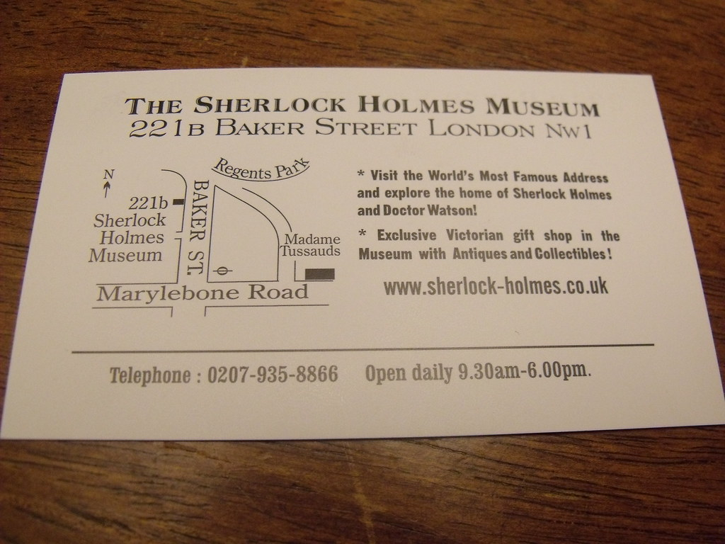 Sherlock holmes museum baker street souvenirs sherlock flickr sherlock holmes museum baker street souvenirs sherlock holmes business card by ell brown magicingreecefo Gallery