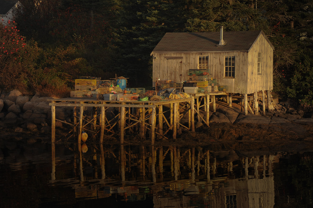 Corea Maine | A lobster shack in the early morning light in … | Flickr