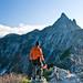 Surveying the Kitakama ridge, Yari-ga-take