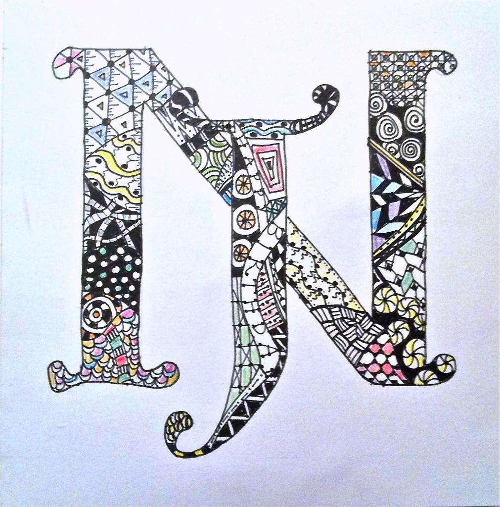 Zentangle Initials