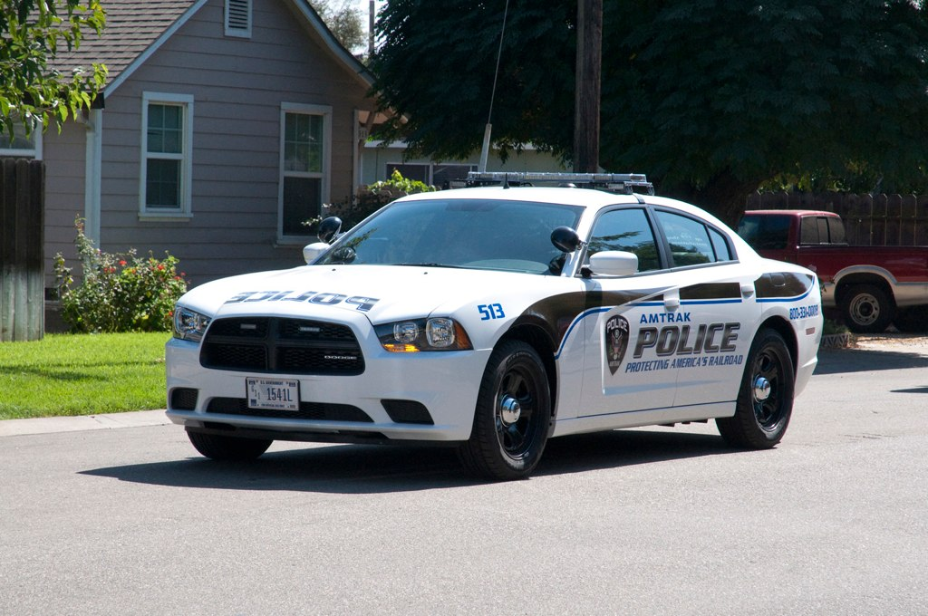 Amtrak Dodge Charger Driving An Amtrak Police Car At The