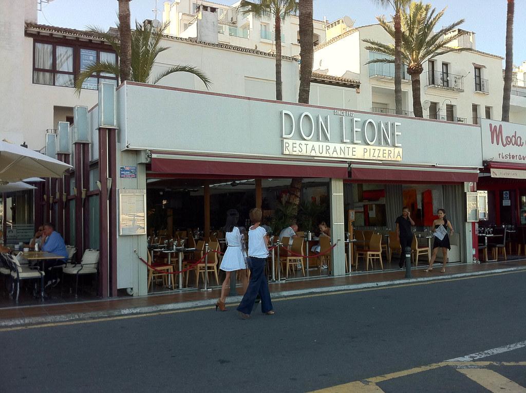 Restaurante don leone banus marbella vista exterior - Restaurante noto marbella ...