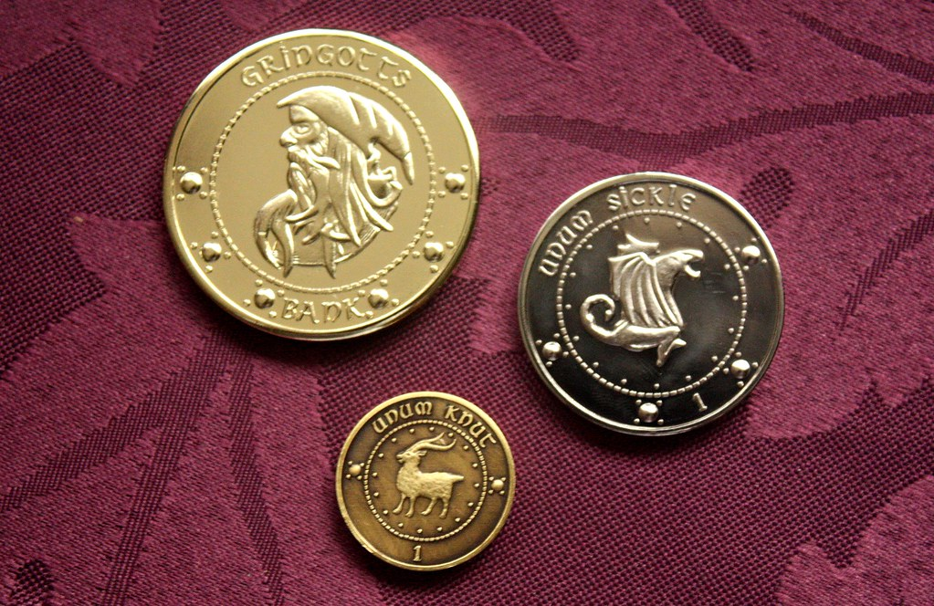Harry Potter Wizarding Currency Taken With My Canon 450d