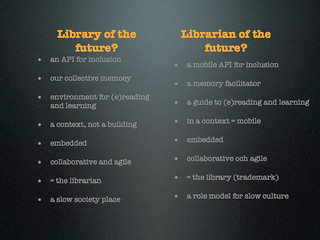Library/librarian of the future? | by Kista Idea Lab