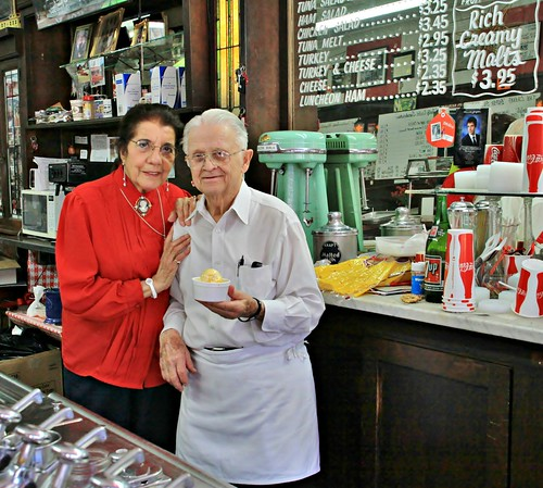 George and Thelma Nopoulos, owners of the Wilton Candy Kitchen  (5 of 5) | by Lights in my hometown