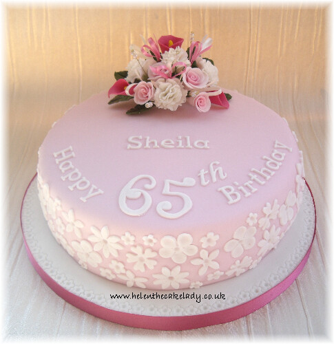 Birthday Cake Designs For A Lady : pink & lace 65th birthday cake Helen Flickr