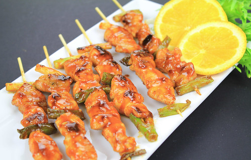 Korean spicy chicken skewers | by KFoodaddict