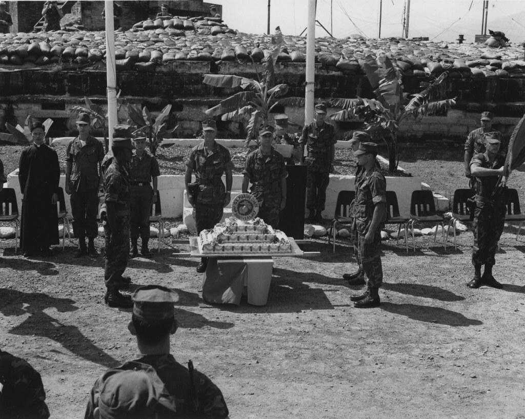 Marine Corps Birthday, Vietnam, 1969   The caption reads ...