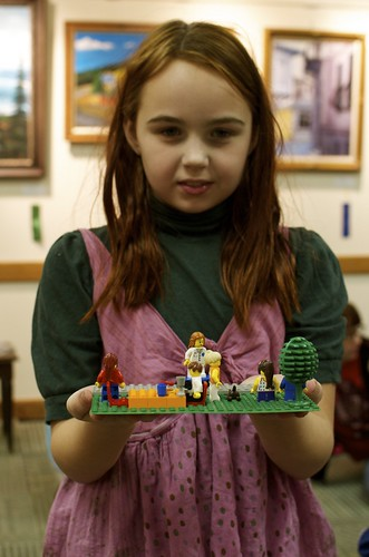 LEGO figures in the yard. | by Murray Librarian