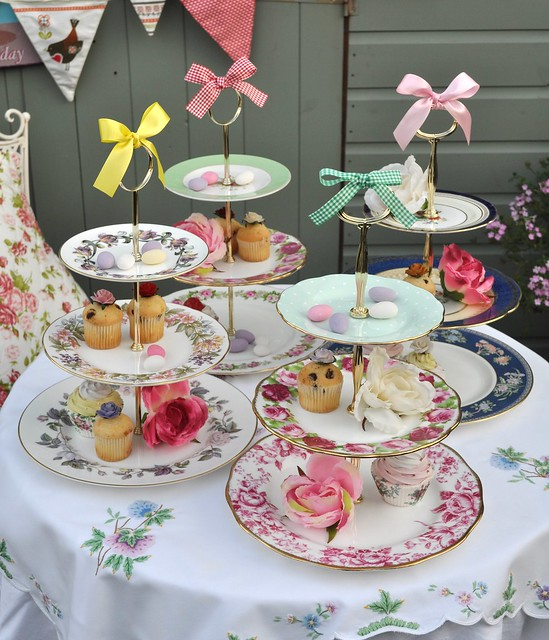 Tiered Vintage Cake Stands For A Tea Party Flickr