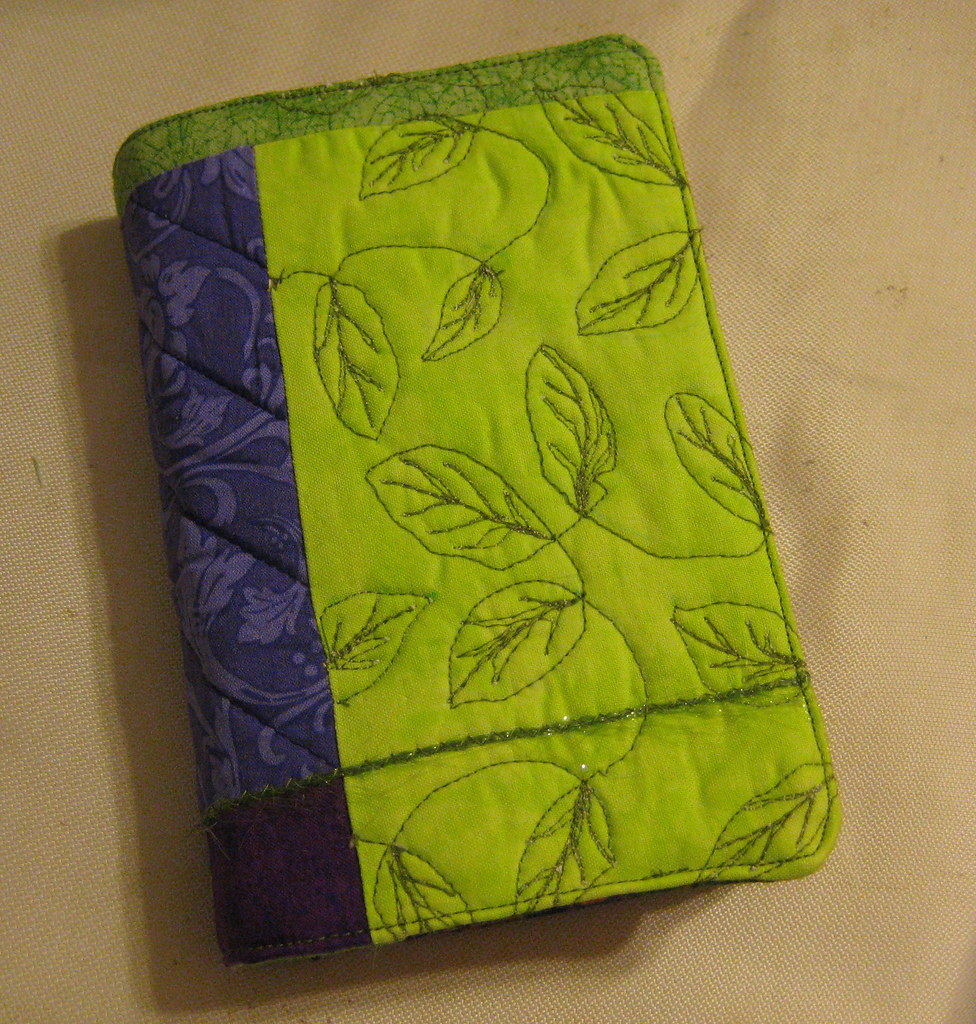 How To Make A Quilted Book Cover : Quilted book cover thought i would make some