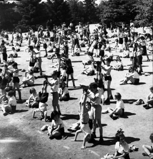 gymnastic practice on kerrisdale school grounds
