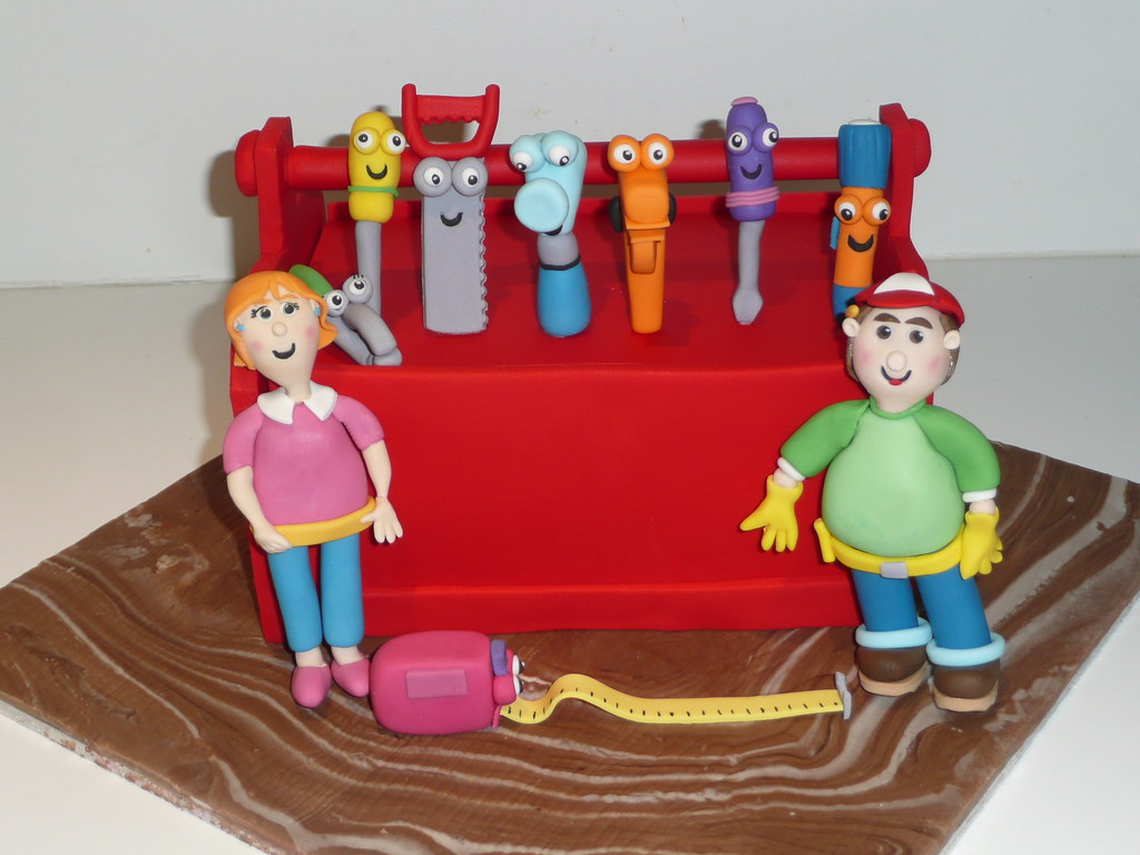 Handy Manny Cake This Was Made For Mr5 S Birthday Had A