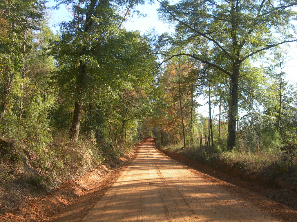 Red Alabama Dirt Road | This dirt road leads from Monroe ...