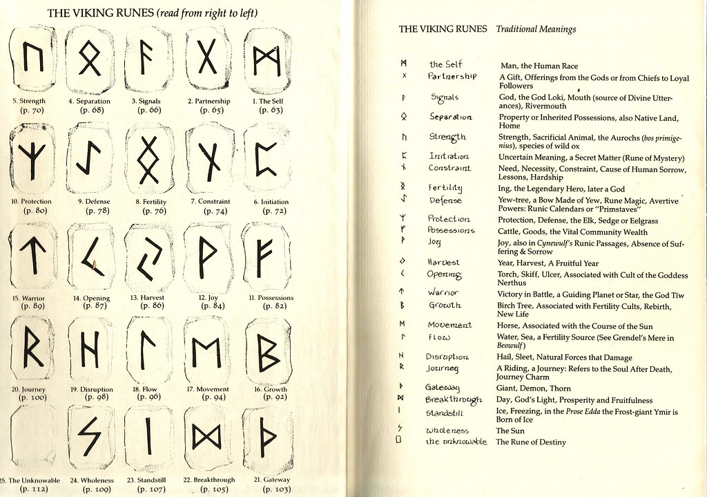 Viking Runes English Meanings The Book Of Runes A Handboo Flickr