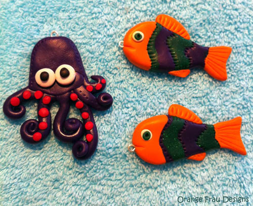 Polymer clay Octopus and Fish | Orange Frau Designs are poly… | Flickr