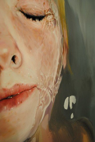 An early look at one of Linnea Strid's new works in progress for 'As It Falls Over You' - this December at Thinkspace | by thinkspace_gallery