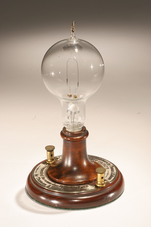 Replica Of Thomas Edisons First Electric Lamp Made In Greenfield Village
