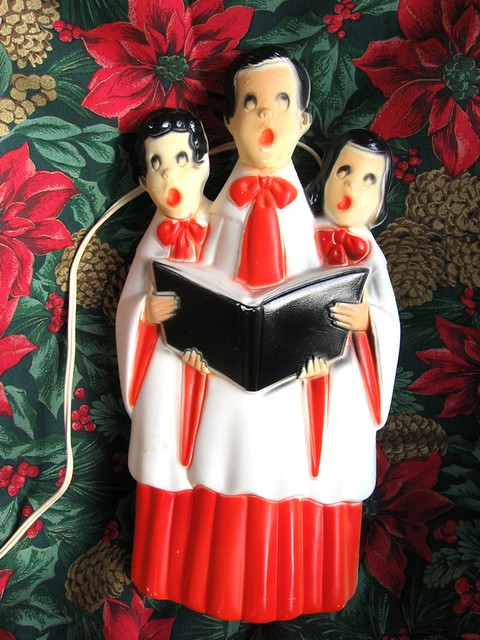 Blow Mold Vintage Lighted Choir Carolers Plastic Decoration Empire  Flickr - Photo Sharing!