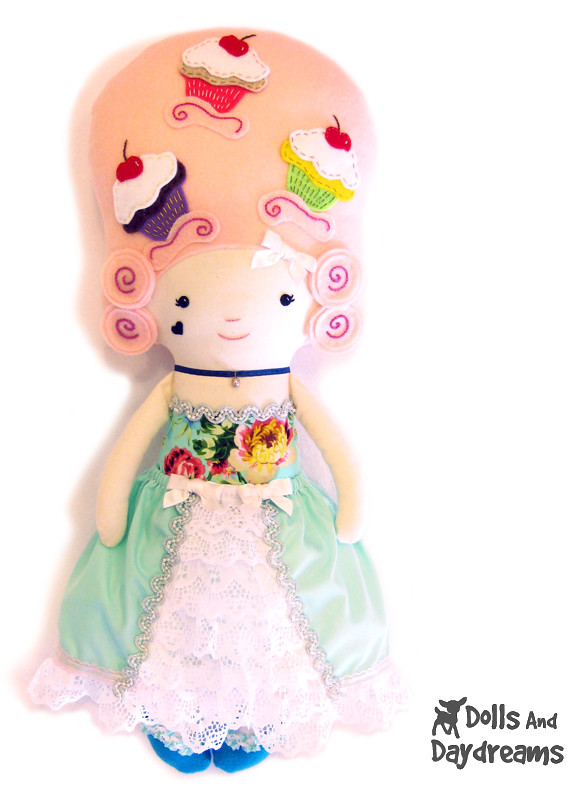 Mary Antoinette Cloth Doll Sewing Pattern Cupcake Kawaii C… | Flickr