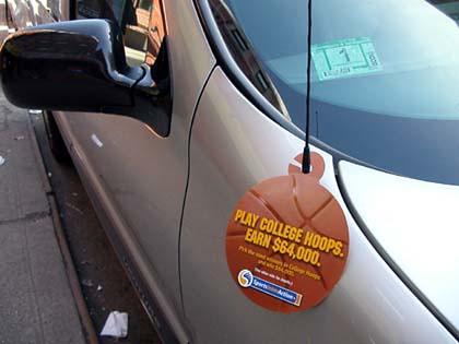 Car Door Hanger Advertising New York City Alt Terrain
