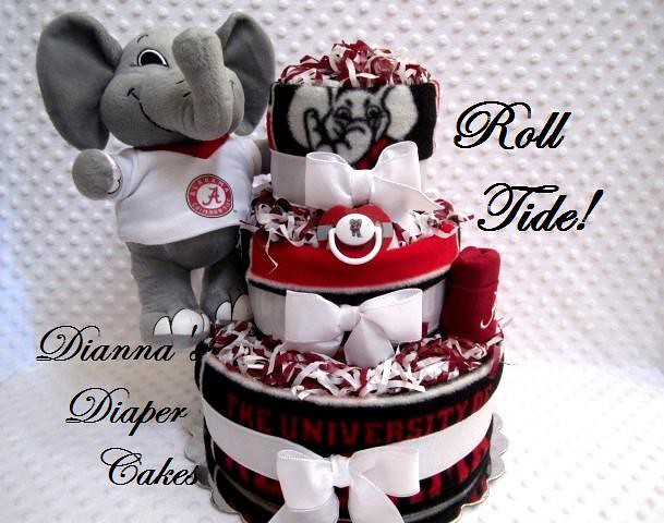 Alabama roll tide baby diaper cake wwwdiannasdiapercakes Flickr