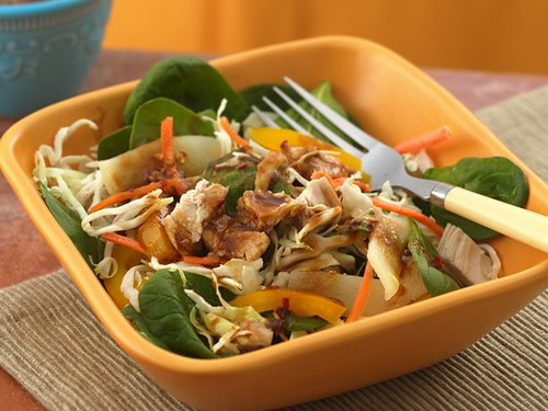 ASIAN CHICKEN SALAD WITH PEANUT SOY DRESSING | by Red Cherry2