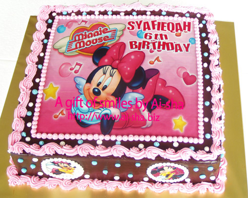 Birthday Cake Edible Image Minnie Mouse Cake Cupcakes Cookies Ai