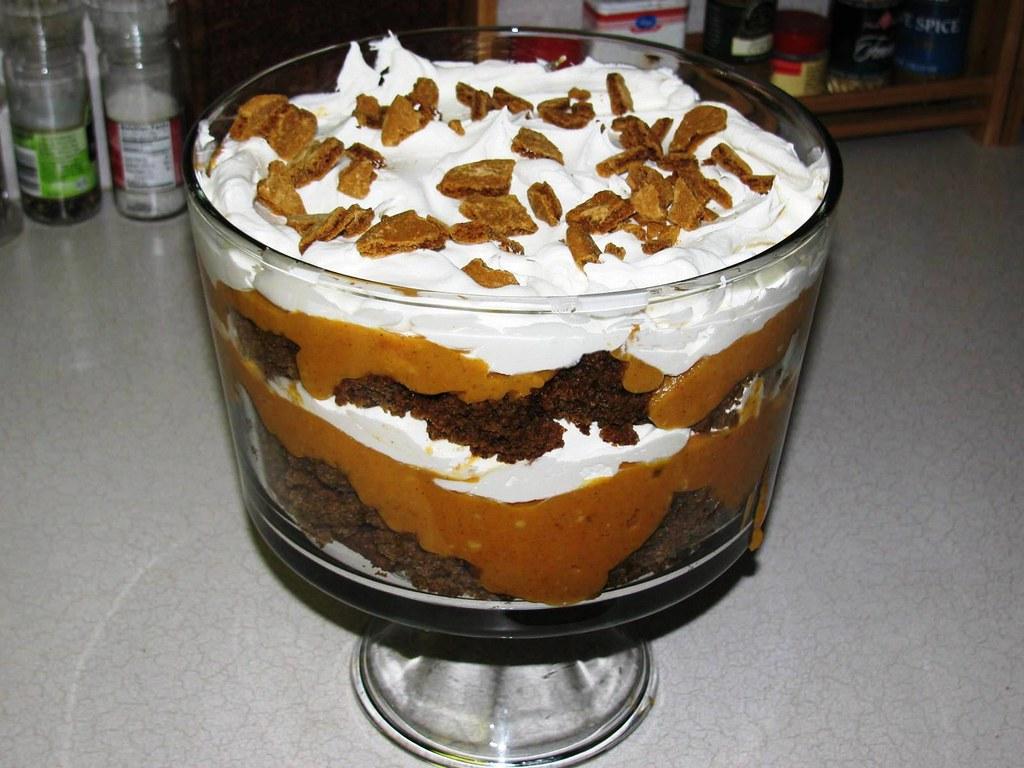 Pumpkin Trifle With Angel Food Cake