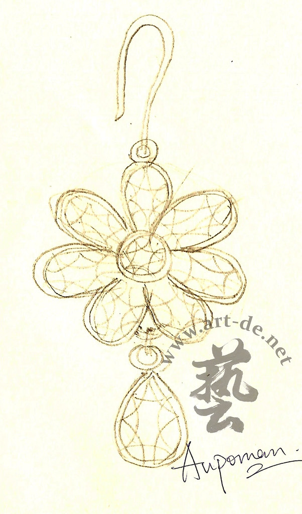 Jewelry-Design-Sketch -Earring | Jewelry Design Drawing (Exe… | Flickr